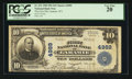 National Bank Notes:Wyoming, Laramie, WY - $10 1902 Plain Back Fr. 631 The First NB Ch. # 4989....