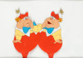 Animation Art:Production Cel, Alice in Wonderland Tweedledee and Tweedledum Production Cel(Walt Disney, 1951)....