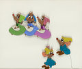 Animation Art:Production Cel, Cinderella Bert, Mert, and other Mice Production Cel (Walt Disney, 1950)....