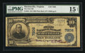 National Bank Notes:Virginia, Martinsville, VA - $10 1902 Plain Back Fr. 624 The First NB Ch. #7206. ...