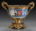Asian:Japanese, A JAPANESE IMARI PORCELAIN AND GILT BRONZE FOOTED BOWL. 13-3/4 x 17x 12 inches (34.9 x 43.2 x 30.5 cm). ...