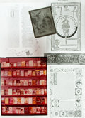 Books:Prints & Leaves, [Books/Bookbinding]. Small Archive of Material Relating to Books and Bookbinding. ...