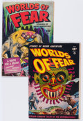 Golden Age (1938-1955):Horror, Worlds of Fear #3 and 6 Group (Fawcett Publications, 1952)Condition: Average VG.... (Total: 2 Comic Books)