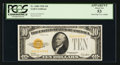 Small Size:Gold Certificates, Fr. 2400 $10 1928 Gold Certificate. PCGS Apparent About New 53.. ...