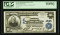 National Bank Notes:West Virginia, Wheeling, WV - $10 1902 Plain Back Fr. 624 The NB of West Virginia Ch. # 1424. ...