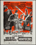 "Movie Posters:Science Fiction, War of the Gargantuas/Monster Zero Combo (UPA, 1966). Poster (17.5""X 22.25""). Science Fiction.. ..."