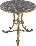 Furniture : French, A FRENCH MARBLE AND GILT BRONZE GUERIDON, 20th century. 21-3/4inches high x 21-3/4 inches diameter (55.2 x 55.2 cm). ...