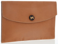 Hermes Gold Courchevel Leather Rio Clutch Bag