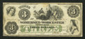 Obsoletes By State:Maryland, Salisbury, MD - The Somerset and Worcester Savings Bank $3 Nov. 1, 1862. ...