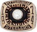 Football Collectibles:Others, 1974 Pittsburgh Steelers Super Bowl IX Championship Ring Presented to Glen Edwards....