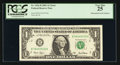Error Notes:Mismatched Serial Numbers, Fr. 1926-B $1 2001 Federal Reserve Note. PCGS Very Fine 25.. ...