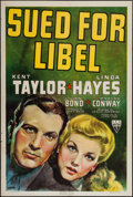 "Movie Posters:Crime, Sued for Libel (RKO, 1939). One Sheet (27"" X 41""). Crime.. ..."
