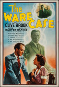 "Movie Posters:Mystery, The Ware Case (ABFD, 1938). One Sheet (27"" X 41""). Mystery.. ..."