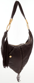 Luxury Accessories:Bags, Cesar Pacciotti Brown Leather Hobo Bag. ...