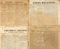 Miscellaneous:Newspaper, [Napoleon Bonaparte]. Four Nineteenth Century Newspapers withNapoleon Content including: Jenks' Portland Gazette. F...
