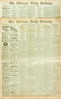 "Miscellaneous:Newspaper, [Thomas Edison]. Two Issues of The Chicago Daily Tribune.Both issues are twelve pages and measure 17.5"" x 23"". ..."