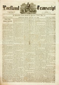 Books:Periodicals, [Newspaper]. Portland Transcript, Vol. XXXII, No. 44, January30, 1869. Portland: Elwell, Pickard & Co: 1869. Co...