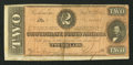 Confederate Notes:1864 Issues, Darker Red Tint T70 $2 1864.. ...
