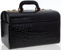 Luxury Accessories:Bags, Castiglioni Giovanni S.A.S. Varese Black Crocodile Top Handle TrainCase. ...