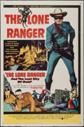"""Movie Posters:Western, The Lone Ranger and the Lost City of Gold (United Artists, 1958). One Sheet (27"""" X 41""""). Western.. ..."""