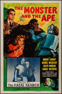 "The Monster and the Ape (Columbia, R-1956). One Sheet (27"" X 41"") Chapter 4 -- ""The Fatal Search."" S..."