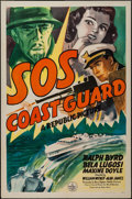 """Movie Posters:Serial, S.O.S. Coast Guard (Republic, 1942). One Sheet (27"""" X 41""""). Feature version of the Serial.. ..."""