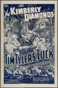 """Movie Posters:Serial, Tim Tyler's Luck (Universal, R-1940s). One Sheet (27"""" X 41"""") Chapter 12 -- """"The Kimberly Diamonds."""" Serial.. ..."""