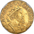 Italy, Italy: Naples. Charles V gold 2 Scudi d'oro ND (1519-56)-B AU58NGC,...