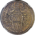 Italy, Italy: Papal States. Clement XII 1/2 Piastra ND (1724) Anno IV MS65NGC,...