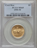 Modern Issues: , 1995-W G$5 Civil War Gold Five Dollar MS69 PCGS. PCGS Population (1146/160). NGC Census: (254/540). Numismedia Wsl. Price ...