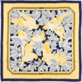 "Luxury Accessories:Accessories, Hermes 90cm Yellow & Navy ""Les Perroquets,"" by Joachim MetzSilk Scarf. ..."