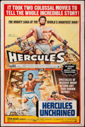 """Movie Posters:Action, Hercules/Hercules Unchained Combo (Avco Embassy, R-1973). Poster(40"""" X 60""""). Action.. ..."""