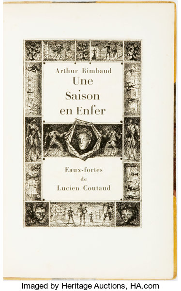 Arthur Rimbaud Une Saison En Enfer Paris New York 1951