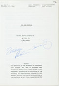 Books:Literature 1900-up, [Screenplay]. Alan Ormsby. INSCRIBED. Original Second Draft Screenplay for the Movie Cat People. Universal City: Uni...