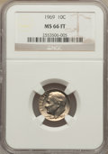 Roosevelt Dimes: , 1969 10C MS66 Full Bands NGC. NGC Census: (8/0). PCGS Population (2/1). Mintage: 145,790,000. ...