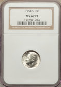 Roosevelt Dimes: , 1954-S 10C MS67 Full Bands NGC. NGC Census: (41/0). PCGS Population (18/0). Mintage: 22,860,000. Numismedia Wsl. Price for ...