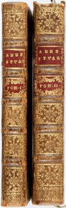 Books:World History, Anne, Queen of England. [Abel Boyer, attrib.] La Vie D'Anne Stuart Reine De La Grand-Bretagne De France Et D'Irelande.... (Total: 2 Items)