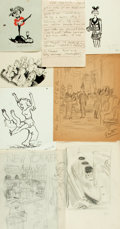 Books:Original Art, Large Lot of Pencil and Pen and Ink Preliminary Gag or SpotIllustrations for the New Yorker. Some are initialed o...