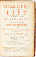 Books:Literature Pre-1900, Hamilton, Count Anthony & Grammont, Philbert, Count de .Memoirs of the Life of Count de Grammont: Containing, inpartic...