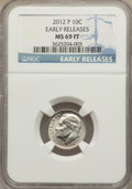 2012-P 10C Early Releases MS69 Full Bands NGC. NGC Census: (1/0). PCGS Population (0/0). Numismedia Wsl. Price for probl...