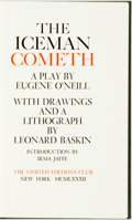 Books:Fine Press & Book Arts, [Featured Lot] [Limited Editions Club] Leonard Baskin, illustrator.INSCRIBED. Eugene O'Neill. The Ice Man Cometh. N...