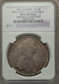 Austria, Austria: Maria Theresia Taler 1762 UNC Details (Surface Hairlines)NGC,...