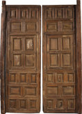 "Antiques:Decorative Americana, PAIR OF MATCHED CEDAR MEXICAN COLONIAL DOORS 19TH CENTURY - Thisset of matched 30"" x 92"" cedar doors was created using hand...(Total: 2 Item)"