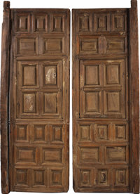 """PAIR OF MATCHED CEDAR MEXICAN COLONIAL DOORS 19TH CENTURY - This set of matched 30"""" x 92"""" cedar doors was crea..."""