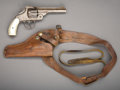 Western Expansion:Cowboy, FOREIGN COPY OF A SMITH AND WESSON DOUBLE ACTION REVOLVER IN ATOOLED 'SHOULDER HOLSTER' - Serial number 748, circa 1880-90....(Total: 2 Items)