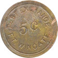 Western Expansion:Cowboy, TOKEN FORT WINGATE, NEW MEXICO POST EXCHANGE 1868 - The post wasreoccupied by troops accompanying the Navajo Indians when t...(Total: 1 Item)