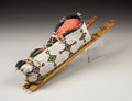 American Indian Art:Beadwork, A CHEYENNE BEADED HIDE MODEL BABY CARRIER. . c. 1890. ...