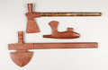 American Indian Art:Pipes, THREE PLAINS CATLINITE PIPES. . c. 1900. ... (Total: 3 Items)