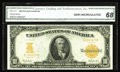 Large Size:Gold Certificates, Fr. 1171 $10 1907 Gold Certificate CGA Gem Uncirculated 68. Anabsolutely stunning 1907 Gold Ten, with extraordinarily deep,...