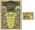 Basketball Collectibles:Programs, 1928 Boston Garden First Event Program & Ticket Stub. DesignerTex Rickard built this famous arena with boxing specifically...